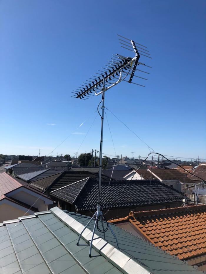 上尾市小泉|高性能UHFアンテナ工事