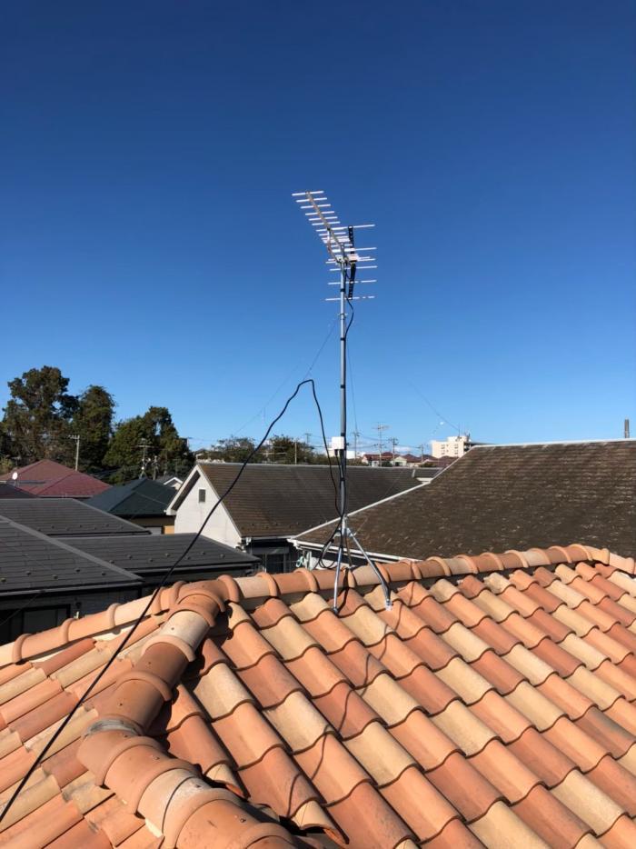 流山市名都借 UHFアンテナ+既設アンテナ撤去工事
