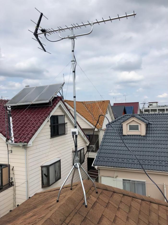 あきる野市小川東 UHFアンテナ+既設アンテナ撤去工事