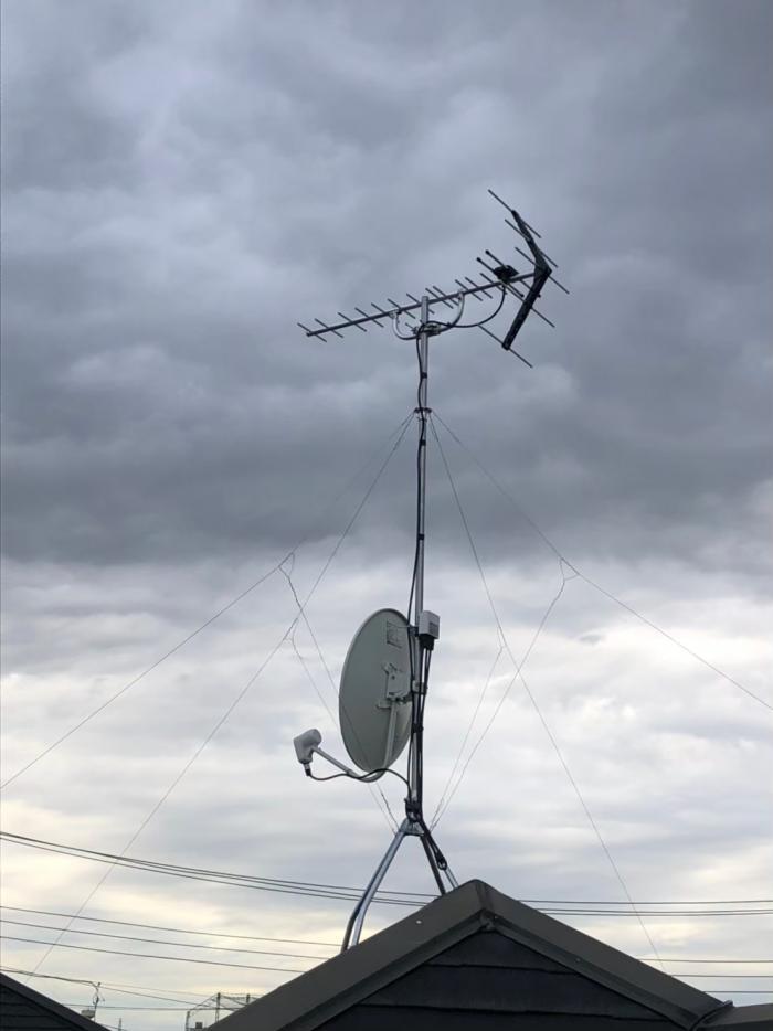 葛飾区西水元|UHFアンテナ+BS/CSアンテナ工事
