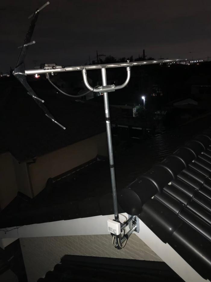 鴻巣市小松|UHFアンテナ+既設アンテナ撤去工事