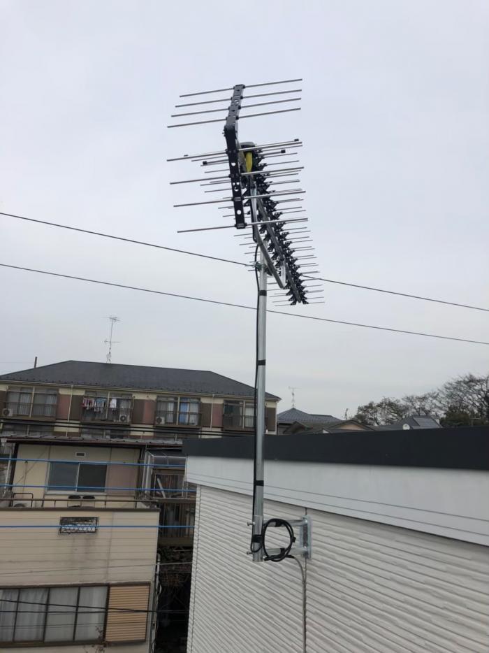 川崎市高津区梶ヶ谷|高性能UHFアンテナ工事