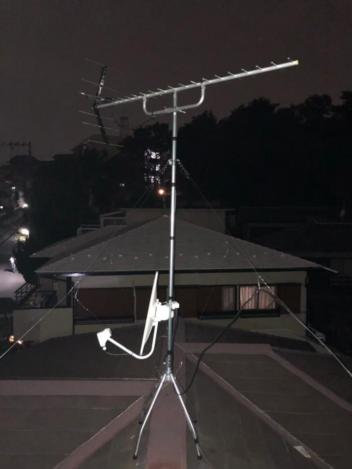 麻生区片平|UHFアンテナ+BS/CSアンテナ工事
