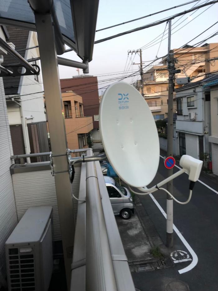 目黒区目黒本町 デザインアンテナ+BS/CSアンテナ工事