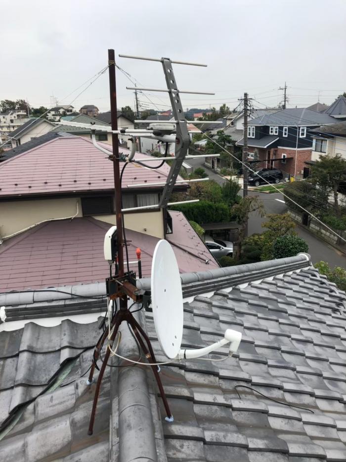 町田市能ヶ谷|BSアンテナ調整工事