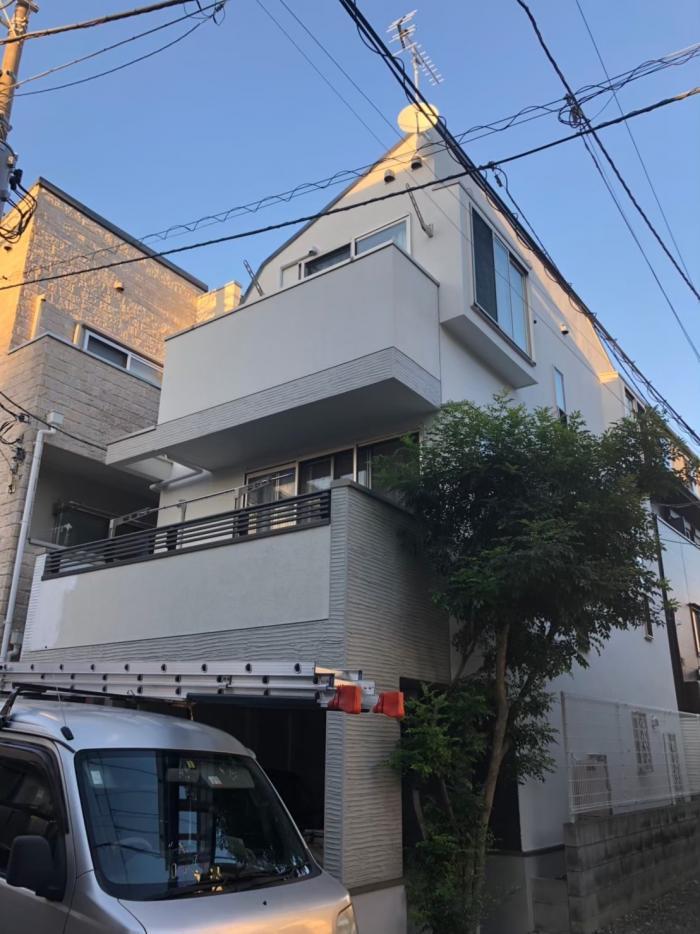世田谷区上用賀 UHFアンテナ+BS/CSアンテナ工事