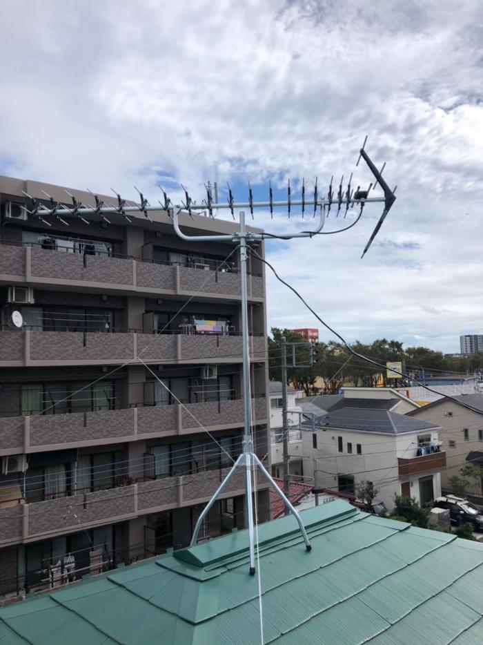相模原市南区上鶴間|高性能UHFアンテナ工事