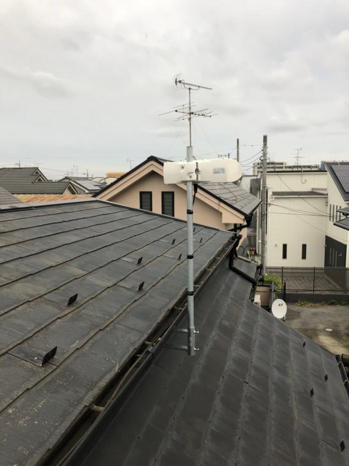 西東京市ひばりヶ丘北|横型デザインアンテナ工事