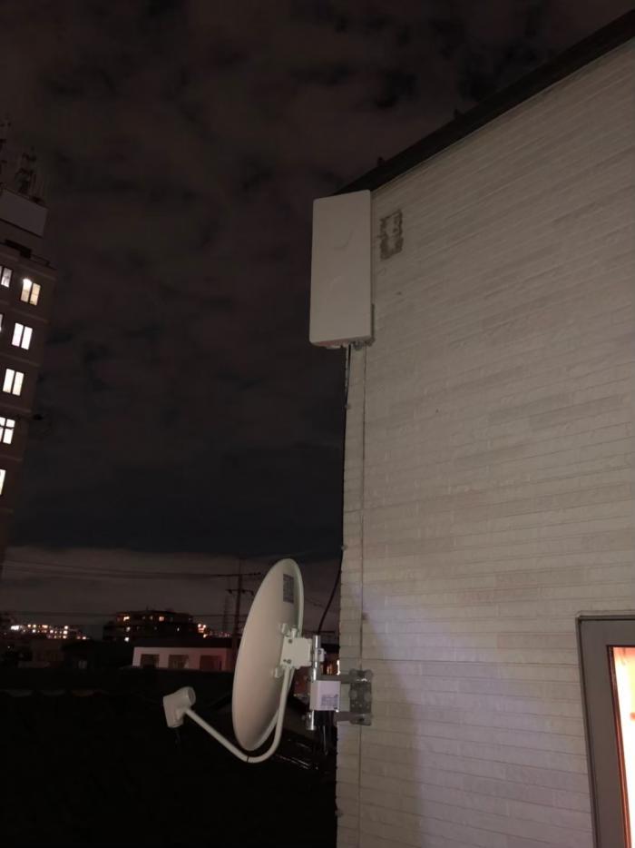 さいたま市南区文蔵 デザインアンテナ+BS/CSアンテナ工事
