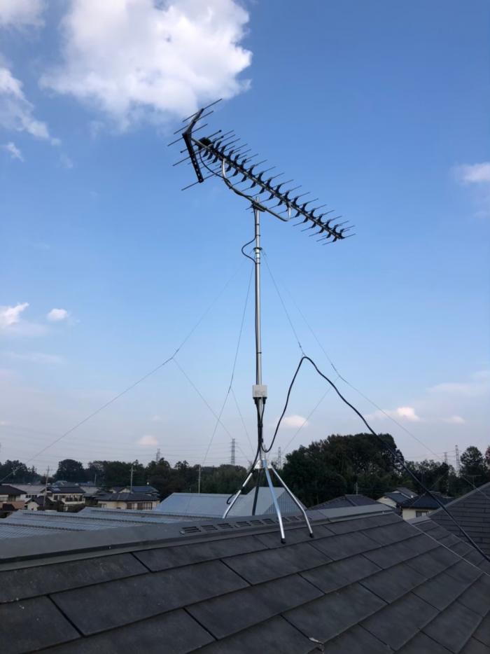 坂戸市塚越 高性能UHFアンテナ工事