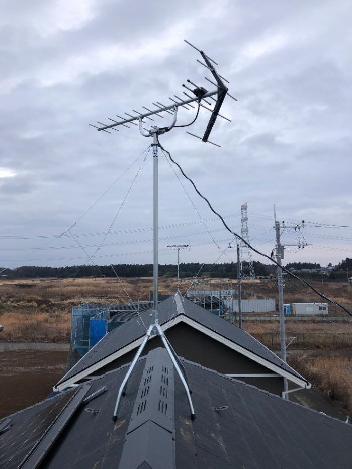 つくば市下河原崎|UHFアンテナ工事