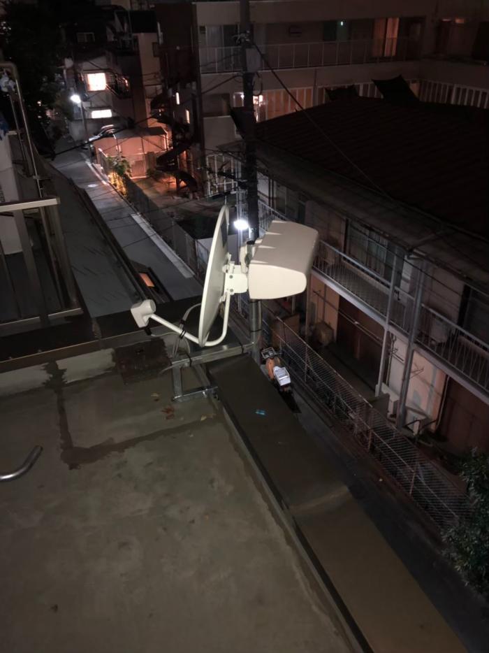 中野区南台 横型デザインアンテナ+BS/CSアンテナ工事