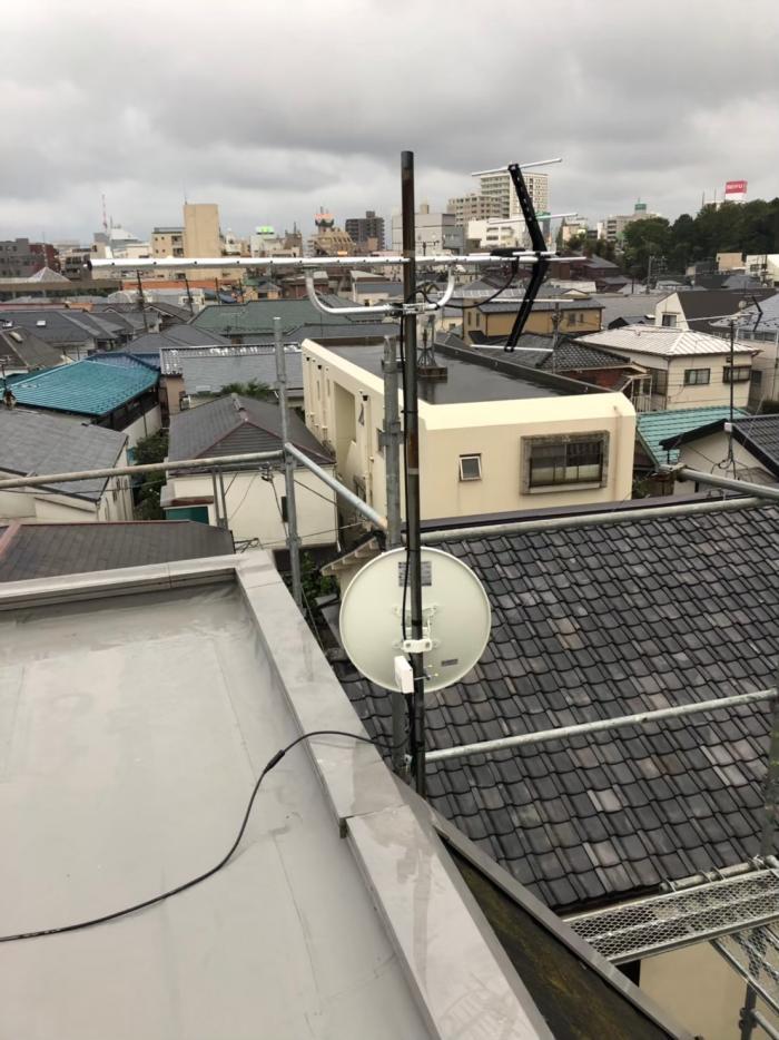杉並区阿佐ヶ谷北 UHFアンテナ+BS/CSアンテナ工事