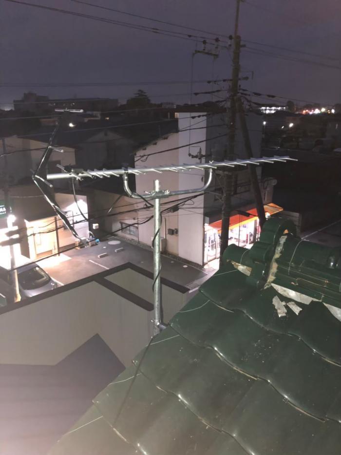 古河市原町|UHFアンテナ工事