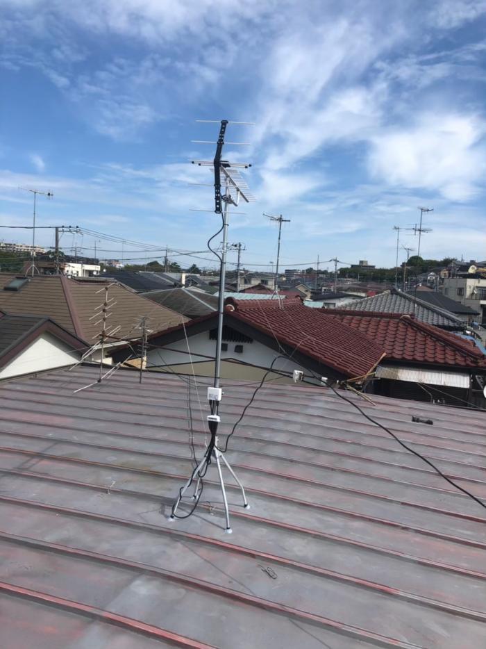 大和市福田 UHFアンテナ+既設アンテナ撤去工事