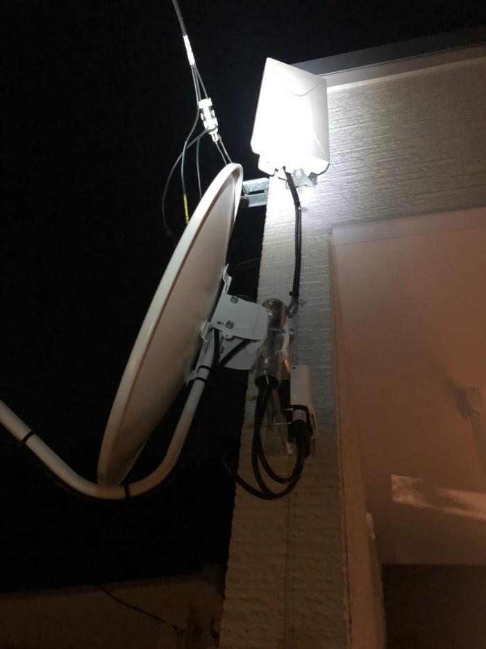 さいたま市西区指扇 デザインアンテナ+BS/CSアンテナ工事 ポラス