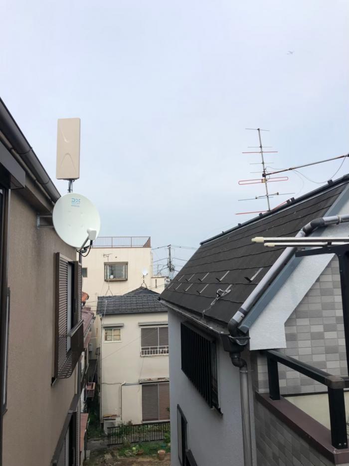 江戸川区大杉 デザインアンテナ+BS/CSアンテナ工事