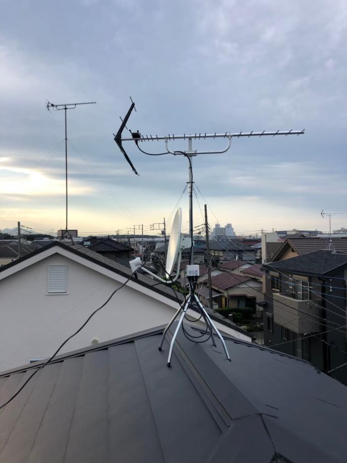 綾瀬市深谷南|UHFアンテナ+BS/CSアンテナ工事