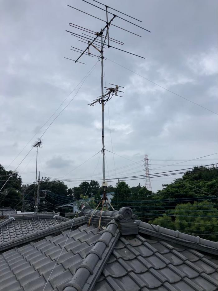 上尾市平塚|既設アンテナ撤去工事