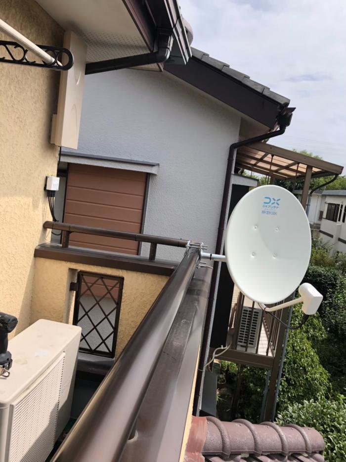 蓮田市椿山|デザインアンテナ+BS/CSアンテナ工事