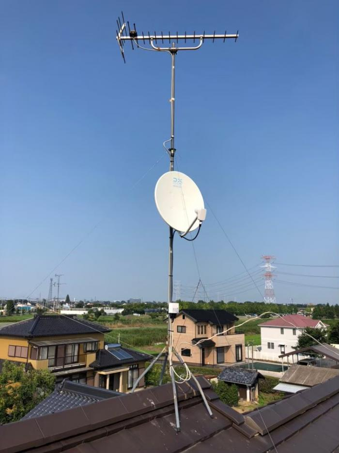 加須市船越 BS/CSアンテナ追加工事