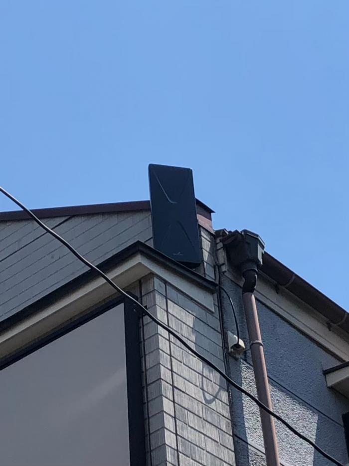 葛飾区柴又 デザインアンテナ+既設アンテナ撤去工事